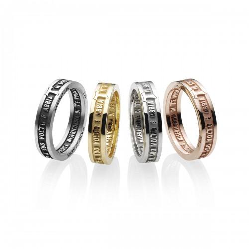 Humilis anello classico in argento