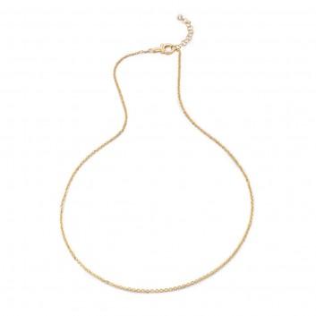 Humilis catena forzatina in argento placcato oro giallo