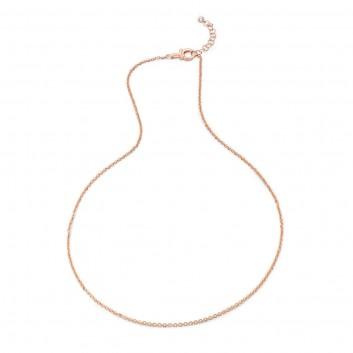 Humilis catena forzatina in argento placcato oro rosa