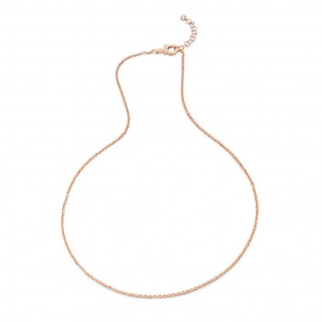 Humilis rose gold plated sterling silver forzatina chain