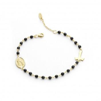 Humilis bracciale rosario argento 925
