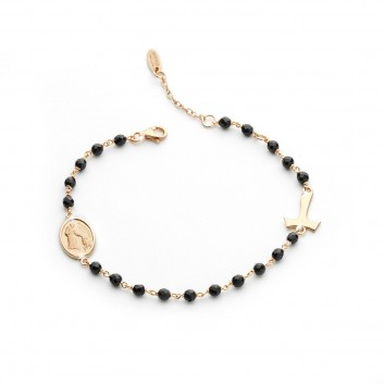 Bracciale rosario argento 925