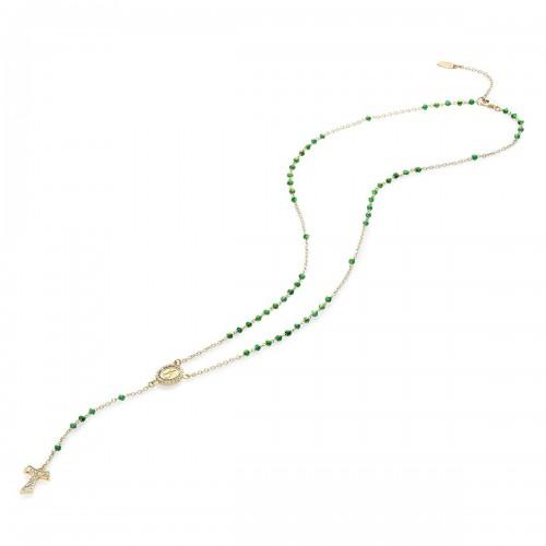 Collana rosario in oro giallo 18 kt