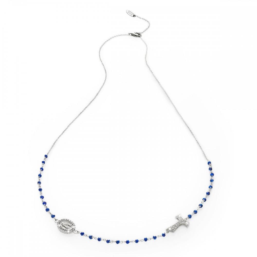 Collana rosario in oro bianco 18 kt