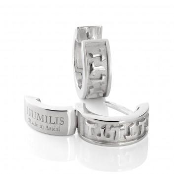 Humilis sterling silver small hoop earrings