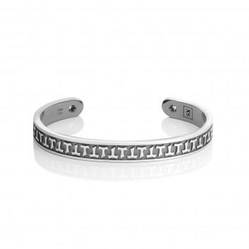 Humilis bracciale classico in argento
