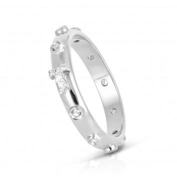 Humilis anello rosario AERE in argento