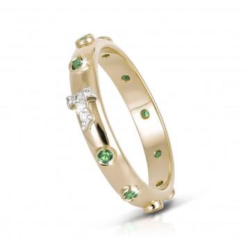 Humilis anello rosario TERRA in argento