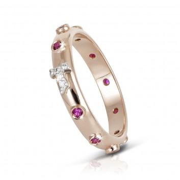 Humilis anello rosario FOCU in argento