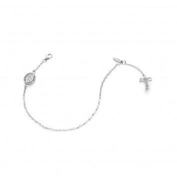Bracciale rosario in oro bianco 18 kt