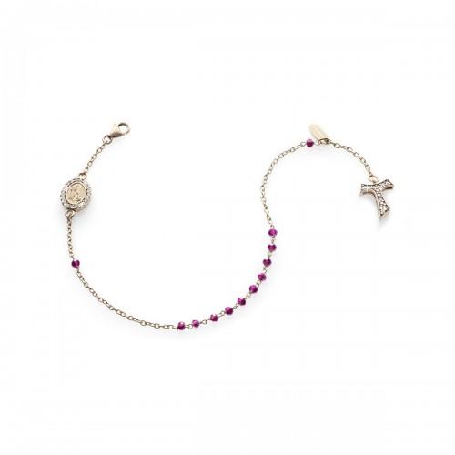 Humilis Bracciale rosario in oro rosa 18 kt