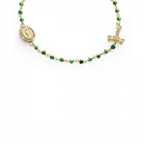 Bracciale rosario in oro giallo 18 kt