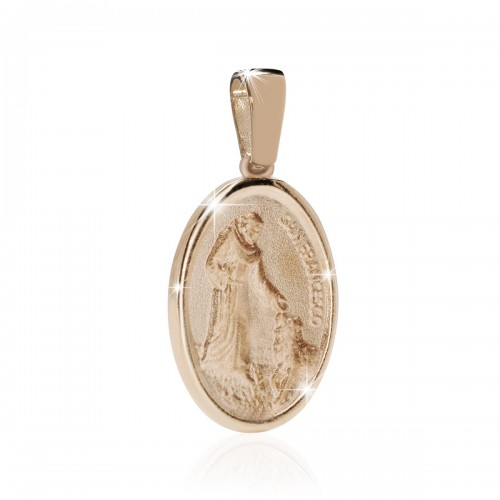 Medaglia di S. Francesco con il lupo in argento 925