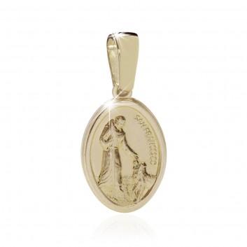 Medaglia HUMILIS con S. Francesco ed il lupo in oro