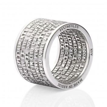 Humilis anello CANTICO DELLE CREATURE in argento