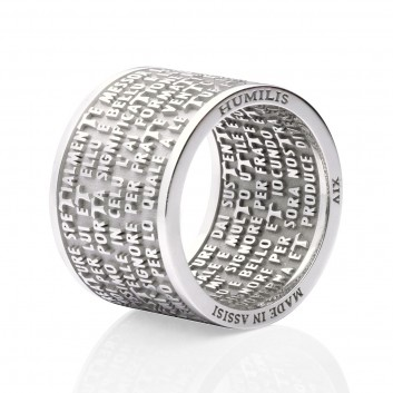Humilis sterling silver CANTICLE OF THE CREATURES ring