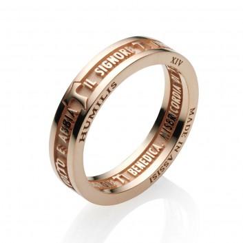Humilis anello BENEDIZIONE DI SAN FRANCESCO in oro