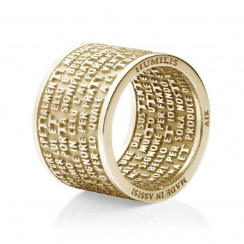 18kt yellow gold CANTICLE OF THE CREATURES Humilis ring