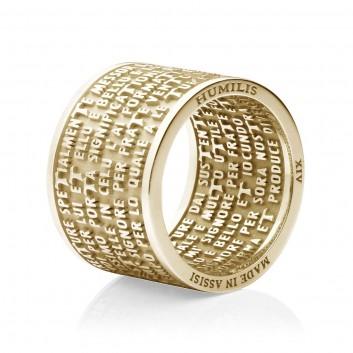 Humilis anello CANTICO DELLE CREATURE in oro giallo