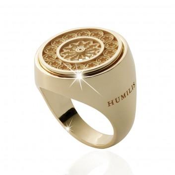 Humilis anello rosone in oro giallo