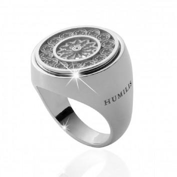 Humilis anello rosone in argento