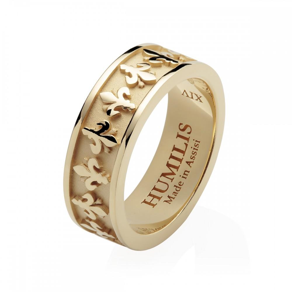 ordine vendita online Promozione delle vendite Humilis anello Giglio in argento placcato oro