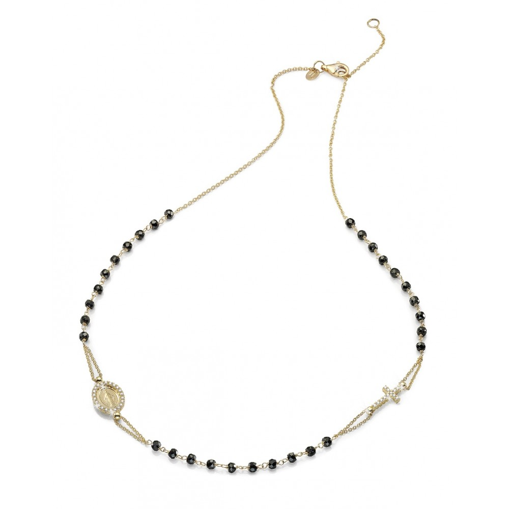 negozio online 76b39 2a5d4 Collana rosario in oro giallo 18 kt
