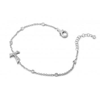 Humilis bracciale in argento con zirconi