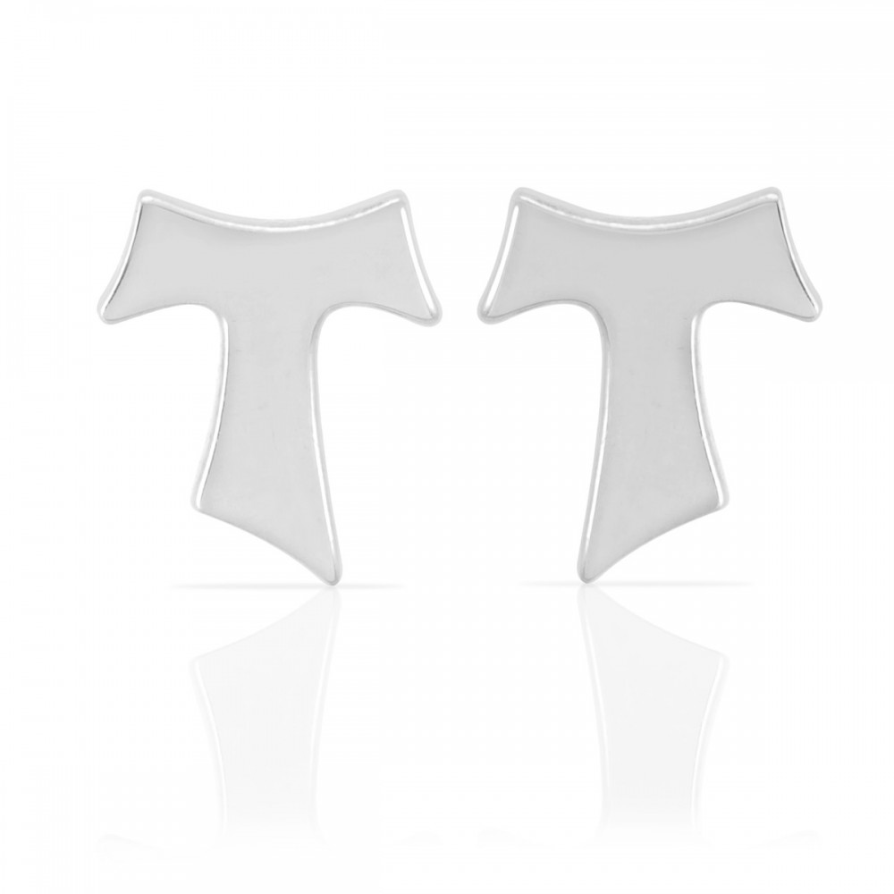 Humilis sterling silver sign earrings