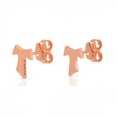 Humilis orecchini in argento placcato oro rosa
