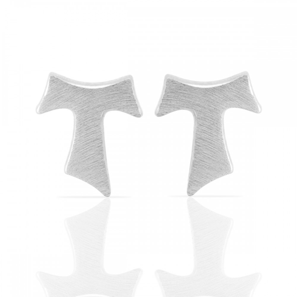 Humilis satin sterling silver earrings