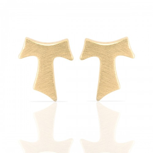Humilis yellow gold plated satin sterling silver earrings
