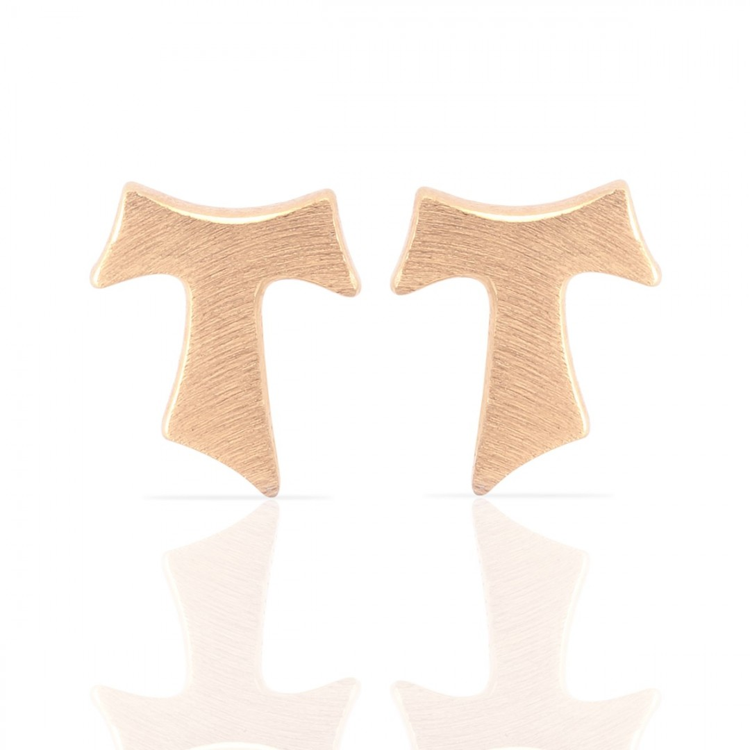 Humilis rose gold plated satin sterling silver earrings