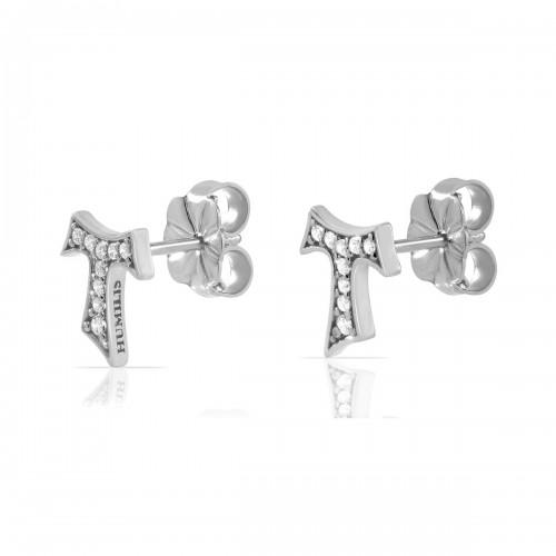 Humilis orecchini in argento con zirconi