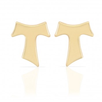 Humilis yellow gold earrings