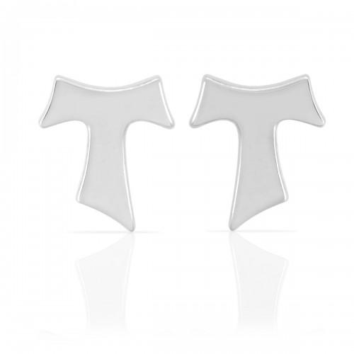 Humilis white gold earrings