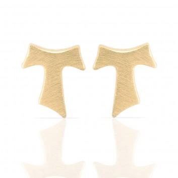 Humilis yellow gold satin earrings