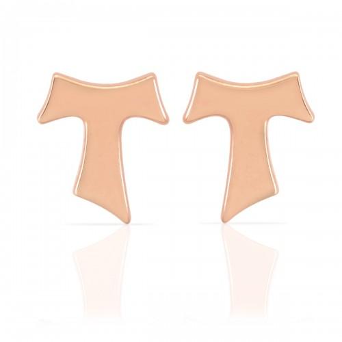 Humilis rose gold earrings
