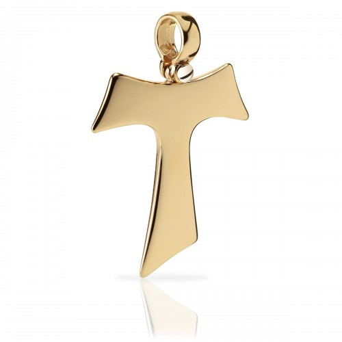 Humilis yellow gold Tau cross