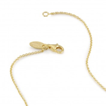 Humilis yellow gold plated sterling silver rolò chain