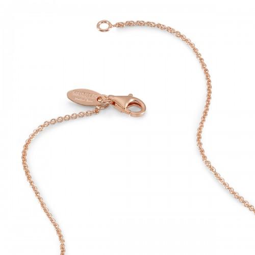 Humilis catena rolò in argento placcato oro rosa