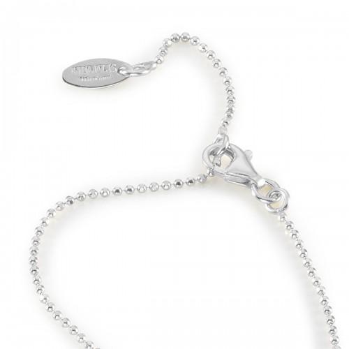 Humilis catena pallinata brillante in argento