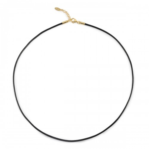 Humilis cotton cord with yellow gold plated sterling silver clasp