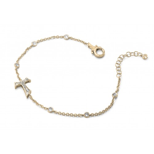 Humilis bracciale in argento placcato oro giallo con zirconi