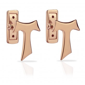 Humilis rose gold Tau cufflinks