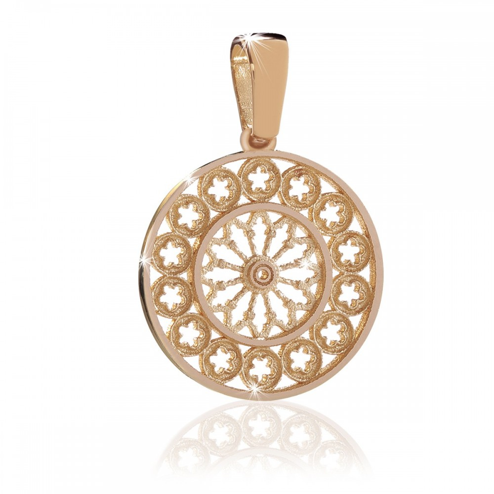 Rosone di Assisi , gioiello ciondolo in oro rosa