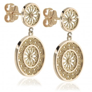 Rose windows' jewels - Rose windows earrings of Assisi