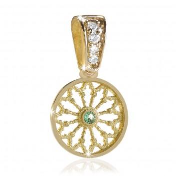 Sterling silver TERRA rose window pendant