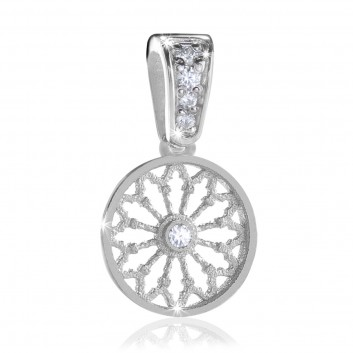 AERE rose window pendant Sterling silver