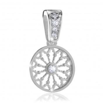 AERE rose window pendant Sterling silver